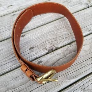 Coach British Tan belt with brass hardware